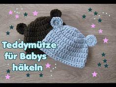 Mütze mit Ohren , Babymütze Häkelanleitung