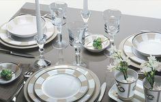 Contemporary Limoges porcelain dinnerware from Bernardaud