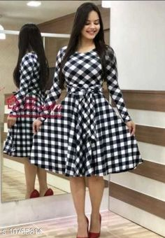 Dresses Fancy Elegant Women Dresses Fabric: Crepe Sleeve Length: Three-Quarter Sleeves Pattern: Printed Multipack: 1 Sizes: S (Bust Size: 36 in Length Size: 41 in)  XL (Bust Size: 42 in Length Size: 41 in)  L (Bust Size: 40 in Length Size: 41 in)  M (Bust Size: 38 in Length Size: 41 in)  XXL (Bust Size: 44 in Length Size: 41 in) Country of Origin: India Sizes Available: S, M, L, XL, XXL *Proof of Safe Delivery! Click to know on Safety Standards of Delivery Partners- https://ltl.sh/y_nZrAV3  Catalog Rating: ★3.9 (496)  Catalog Name: Classy Modern Women Dresses CatalogID_1981127 C79-SC1025 Code: 973-10765814-