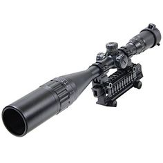Hunting Riflescope 624x50mm AOL Red  Green Blue Mildot Reticle Scope Illuminated Crosshair Intensified Rifle Scope with Free Mounts and Lens Cover by Out Topper -- More info could be found at the image url. (This is an affiliate link) #AirsoftsightsOptics