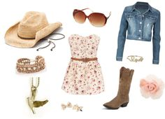 Pretty in Pink Country Style, created by hkosel on Polyvore