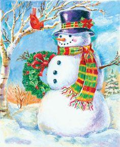 "Andréa Brooks ""snowman top hat"" ©"