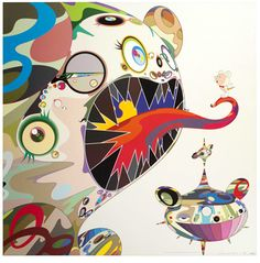 TAKASHI MURAKAMI, Homage to Francis Bacon (Study of George Dyer), 2004, offset lithograph