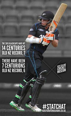 With his century in added to an incredible year of centuries for batsmen. 14th Century, Cricket, New Zealand, Museum, The Incredibles, Ads, Baseball Cards, Sports, Hs Sports