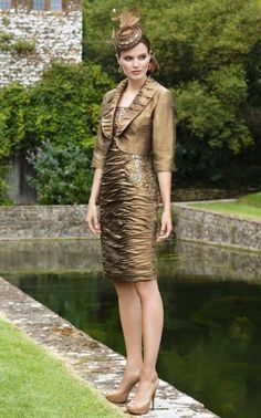 Stunning bronze, raw silk Condici- get it exclusive to Canada at Creme Couture in Guelph