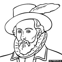 Sir Walter Raleigh Coloring Page