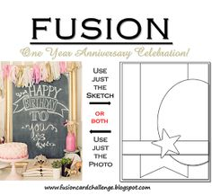 Fusion Card Challenge: Happy Anniversary and Happy New Year! A Special Celebration!