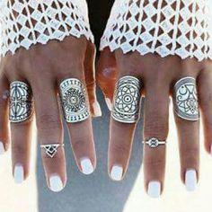 Jewelry - Boho Gypsy Midi Rings