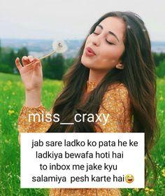 Crazy Girl Quotes, Funny Girl Quotes, Crazy Girls, Girly Quotes, Funny Jokes For Kids, Some Funny Jokes, Funny Memes, Cute Attitude Quotes, Girl Attitude