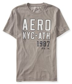 Camiseta Aeropostale Masculina AERO NYC - Cinza - Figo Verde: Roupas importadas originais
