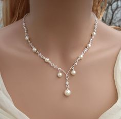 Elegant Bridal Jewelry Set Wired Crystal por SunVDesigns en Etsy