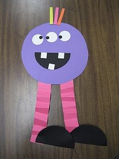 Shape Monsters to use with My Green Monster Book--teaching kids not to be afraid