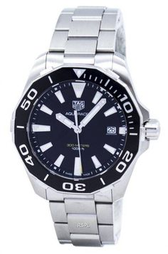 Features:  Stainless Steel Case Stainless Steel Bracelet Quartz Movement Sapphire Crystal Black Dial Luminous Hands And Markers Date Display Unidirectional Rotating Bezel Deployment Clasp 300M Water Resistance  Approximate Case Diameter: 41mm Approximate Case Thickness: 12mm