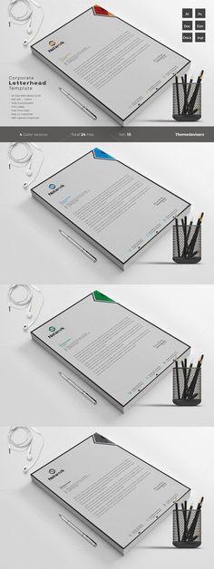 Modern Business Letterhead Template Template, Business and Modern - corporate letterhead template