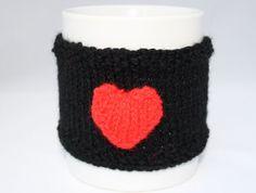 Valentine gift heart mug hug cup cosy heart cup by sweetygreetings, £2.60
