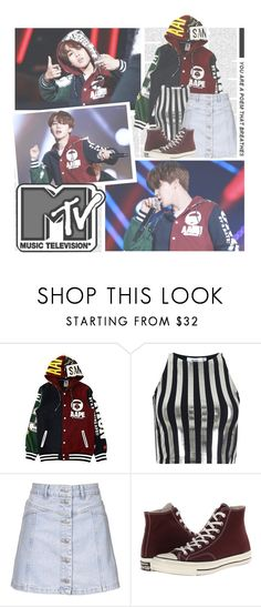 """""""Boys With Fun (흥탄소년단)- BTS"""" by alicejean123 ❤ liked on Polyvore featuring Bundy & Webster, Topshop and Converse"""