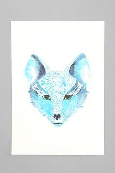 Ola Liola Blue Fox Art Print
