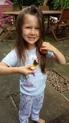 """""""My daughter Isabelle is almost 4 and absolutely loved the whole transformation from tiny caterpillar to butterfly and enjoyed every second of letting them go - especially as they landed on her for ages. I have recommended these to everyone. Such a brilliant idea!"""" Thanks to Julie Wilcox for sharing her photo and experience with us!"""