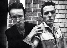 Topper Headon and Joe Strummer.