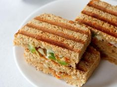 veg pizza sandwich recipe with step by step photos - sharing a quick to prepare starter snack recipe for diwali. these veg pizza sandwiches are basically grilled sandwiches. though you can also make toast sandwiches. Simple Veg Sandwich Recipes, Grilled Sandwich Recipe, Vegetarian Sandwich Recipes, Pizza Sandwich, Snack Recipes, Cooking Recipes, Snacks, Toast Sandwich, Dinner Recipes