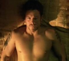 Christian Kane from the movie Hide I don't know who took this of him shirtless but dang is he hot there.