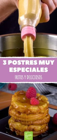 From churros to pancakes: 3 fried desserts - Recetas - Pastry Donut Recipes, Cake Recipes, Dessert Recipes, Cooking Recipes, Desserts Frits, Junk Food, Pan Dulce, Tasty, Yummy Food