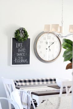 My Mom's New Home Tour {Part 1}   Less Than Perfect Life of Bliss   home, diy, travel, parties, family, faith Sherwin Williams Silver Strand, Living Area, Living Rooms, Striped Chair, Uk Homes, Chalkboard Art, Interior Walls, Open Floor, Cottage Chic