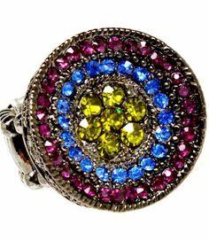 Amazon.com: Crystal Stretch Ring R1 Round: Jewelry