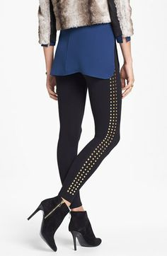 Nordstrom Studded Leggings available at #Nordstrom