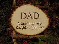 Reserved For Michelle Dad A Son's First Hero Daughter's First Love Rustic Wood…