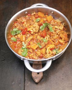Jamie Oliver's Vegetable Jalfrezi Curry - a staple in our house though I usually substitute sweet potatoes for the butternut squash if I'm in a hurry.