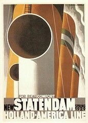 SS Statendam - Holland-America Line - Vintage Travel Poster - 1929