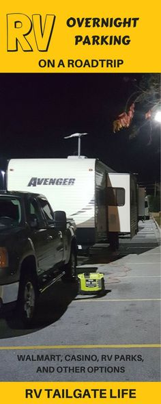 Where should/can you park an RV for just one night on a long roadtrip