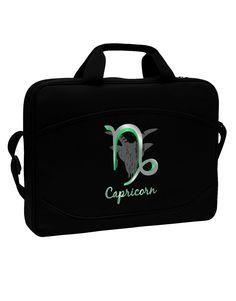 "Capricorn Symbol 15"" Dark Laptop / Tablet Case Bag"