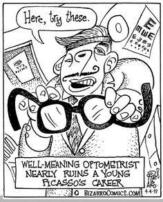 Picasso's Optometrist on Bizarro