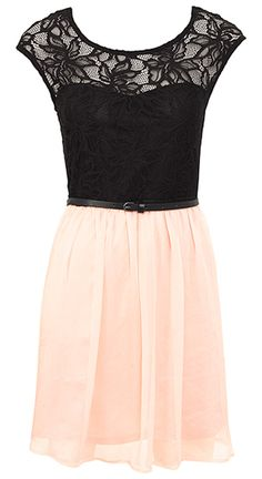 Lace & Chiffon Dress. Love.