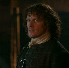 """Jamie Fraser (Sam Heughan) in Episode 211 """"Vengeance is Mine"""" of Outlander Season Two on Starz"""