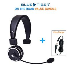 Blue Tiger  On the Road Bundle  Elite Premium Bluetooth Headset PLUS MobileSpec Replacement Car Charger 12V >>> Visit the image link more details. (This is an affiliate link and I receive a commission for the sales) #BestHeadphones