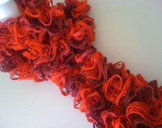 Red Ruffle Scarf