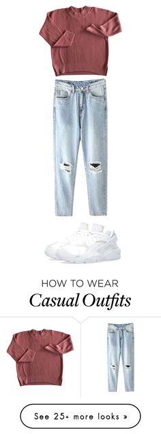 """""""Casual friday ❤️"""" by angelam-maldonado on Polyvore featuring women's clothing, women's fashion, women, female, woman, misses and juniors"""