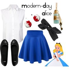 modern alice in wonderland outfit - Google Search