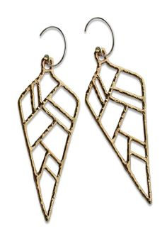 Made of handcrafted recycled sterling silver and bronze, these earrings make a statement. #EthicalFashion #ShopGoodCloth