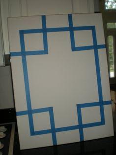DIY canvas art. so easy!