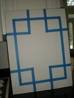 DIY canvas art. so easy! There are a lot of fun DIY projects from this site :)