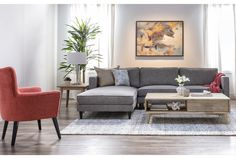 Cosmos Grey 2 Piece Sectional With Left Arm Facing Chaise Clean Living Rooms, Living Room Sets, Living Room Modern, Home Living Room, Living Room Designs, Living Room Decor, Living Spaces, Blue Accent Chairs, Accent Chairs For Living Room