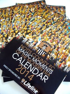 Calendars printed for Notts County Football Club.
