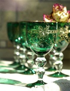 Beautiful green goblets