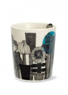 "Tea cup -- Marimekko -- design by Maija Louekari : ""Siirtolapuutarha-muki"""