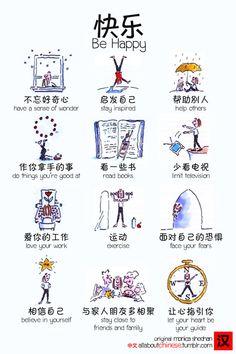 快乐! Be Happy! | #Chinese