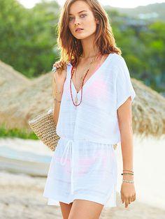 416a4571fd Swimsuit Cover Ups - Beach Dresses, Rompers & More - Victoria's Secret